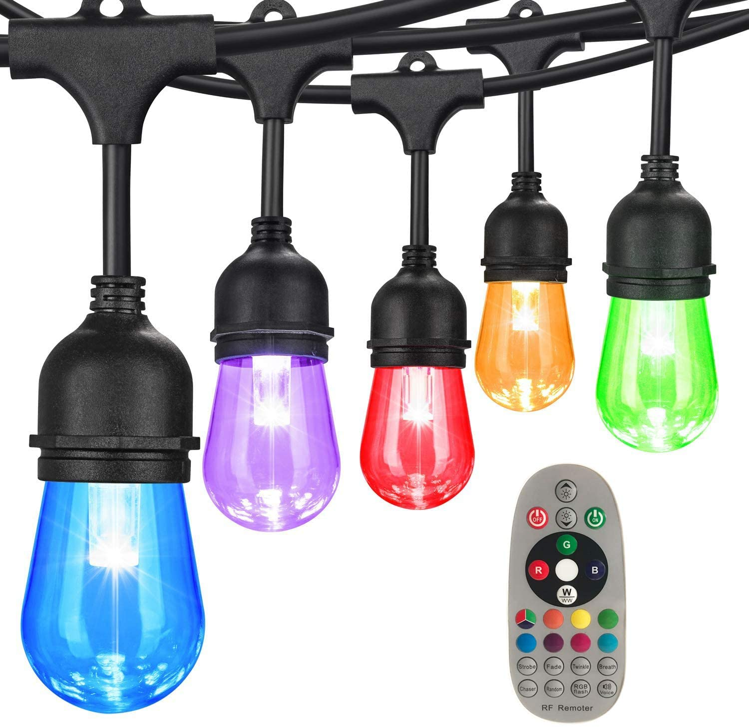 Outdoor light with remote control