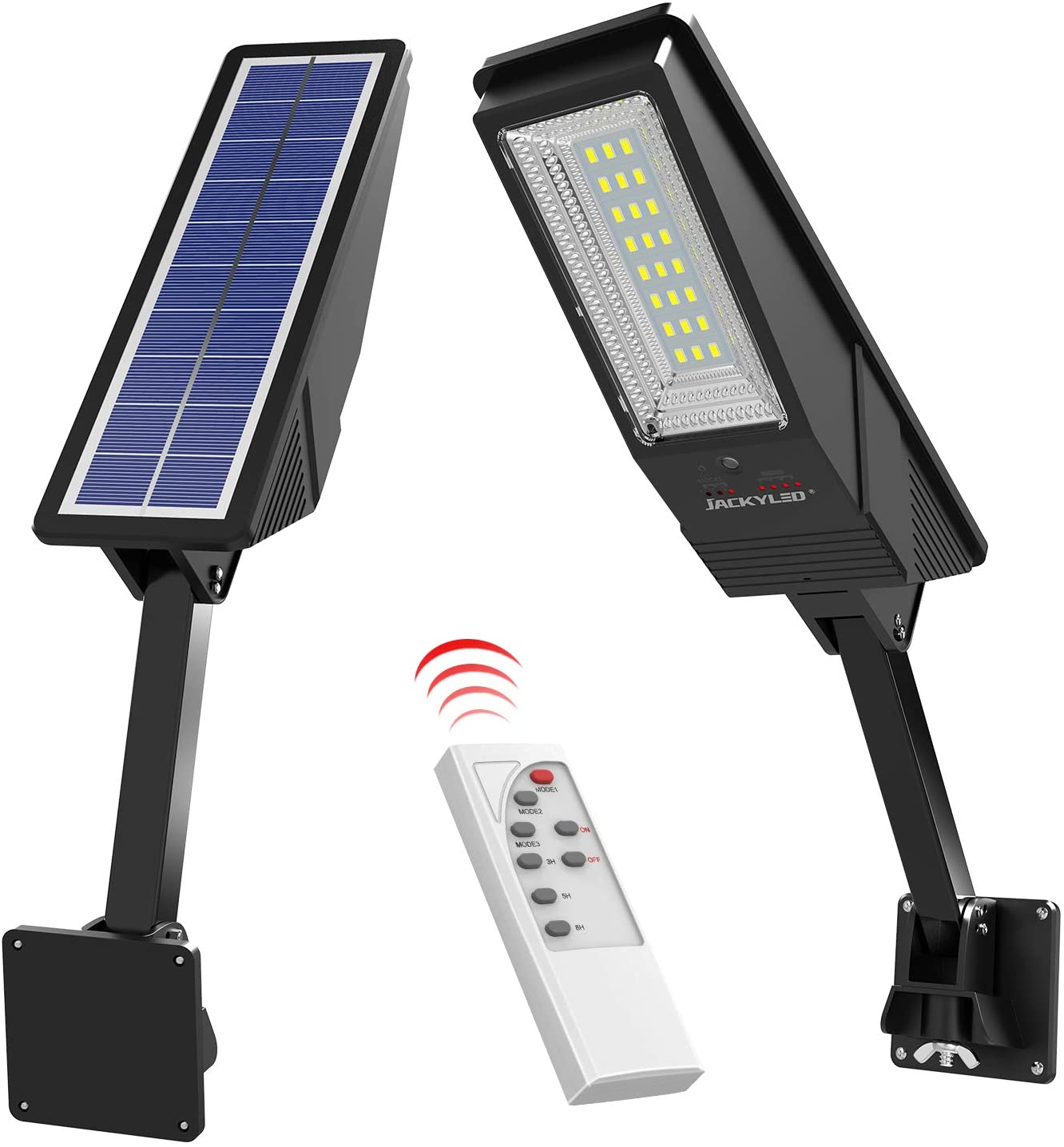 Solar outdoor light with remote control