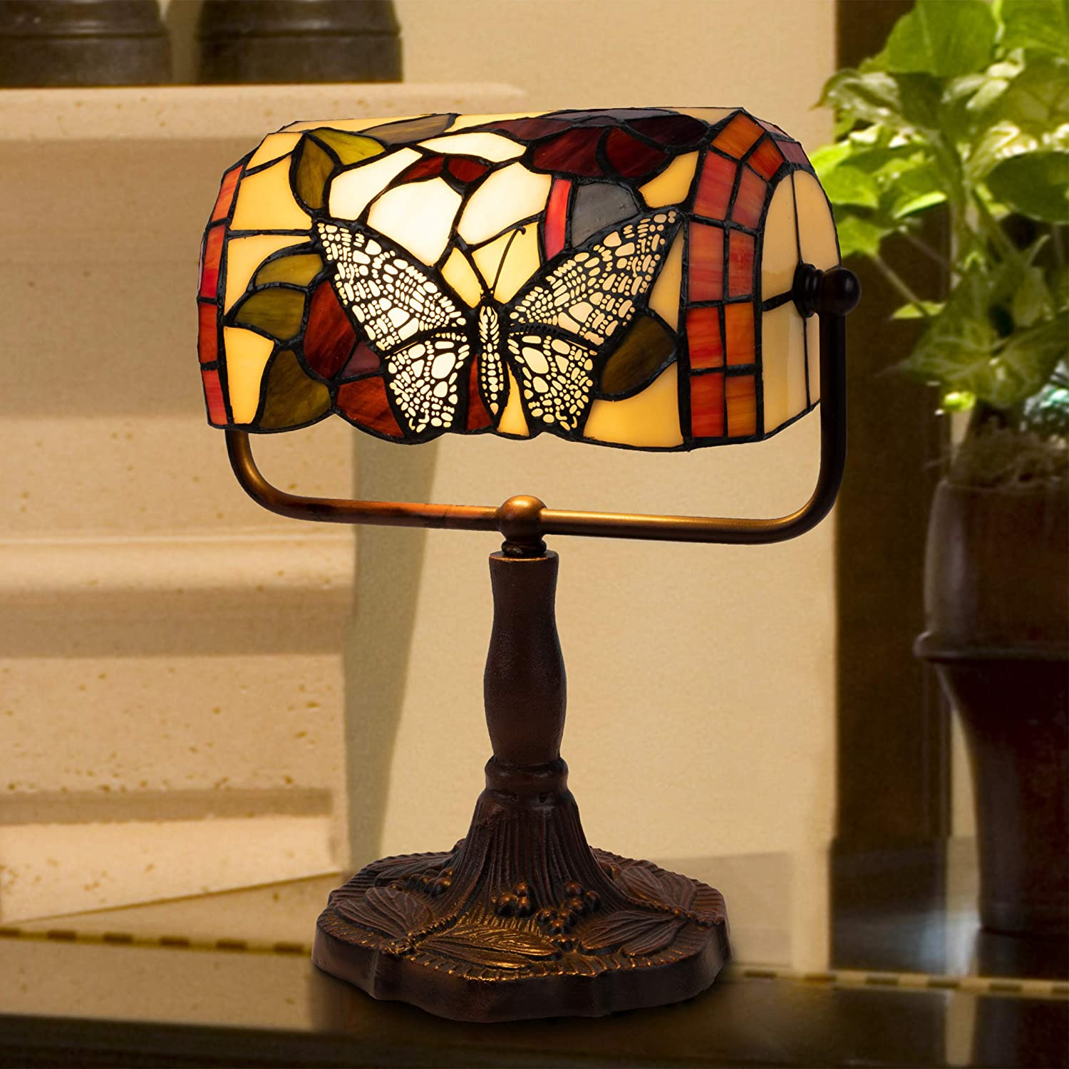 Bankers Lamp Tiffany style