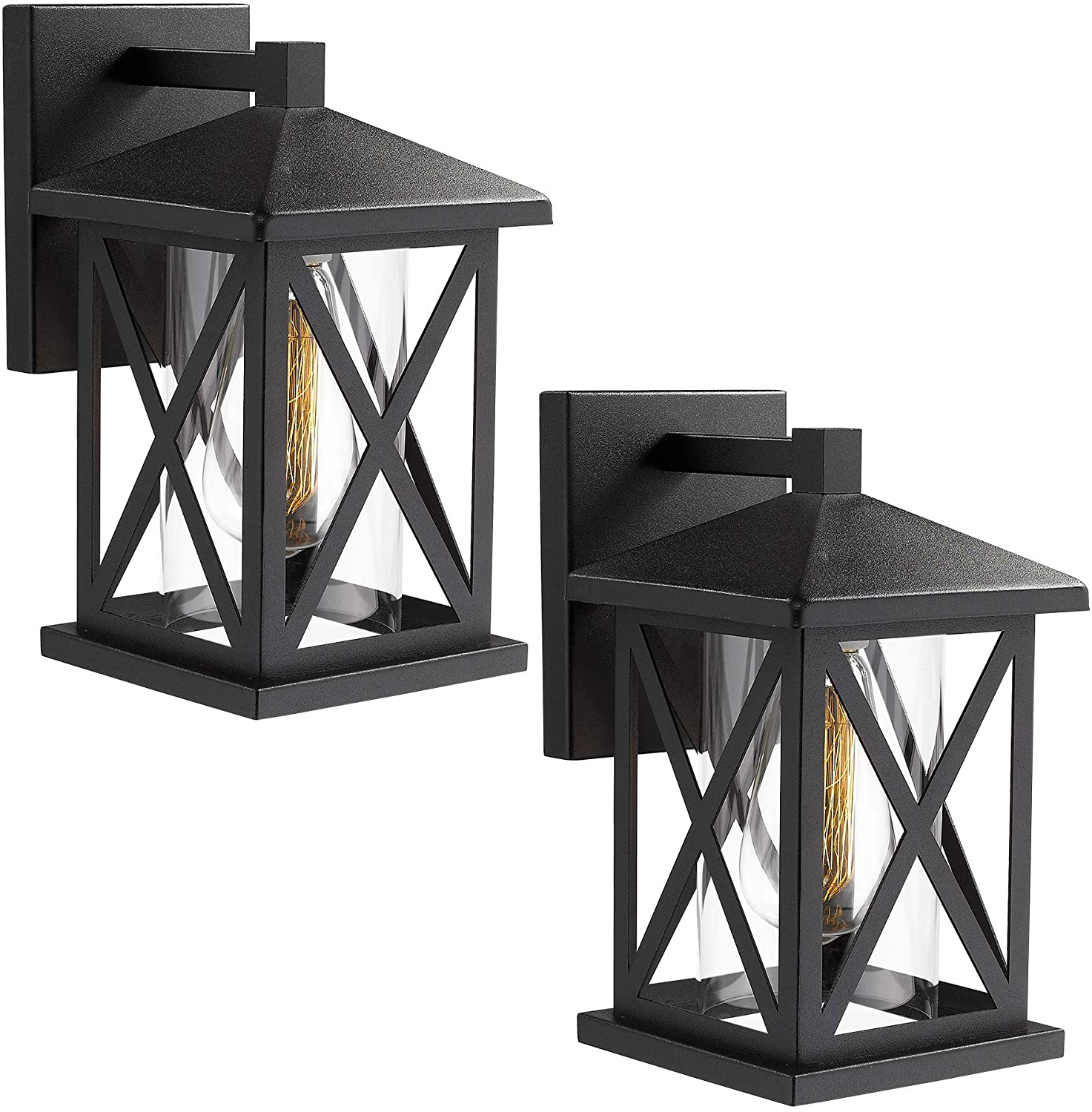 Outdoor wall sconce fixture