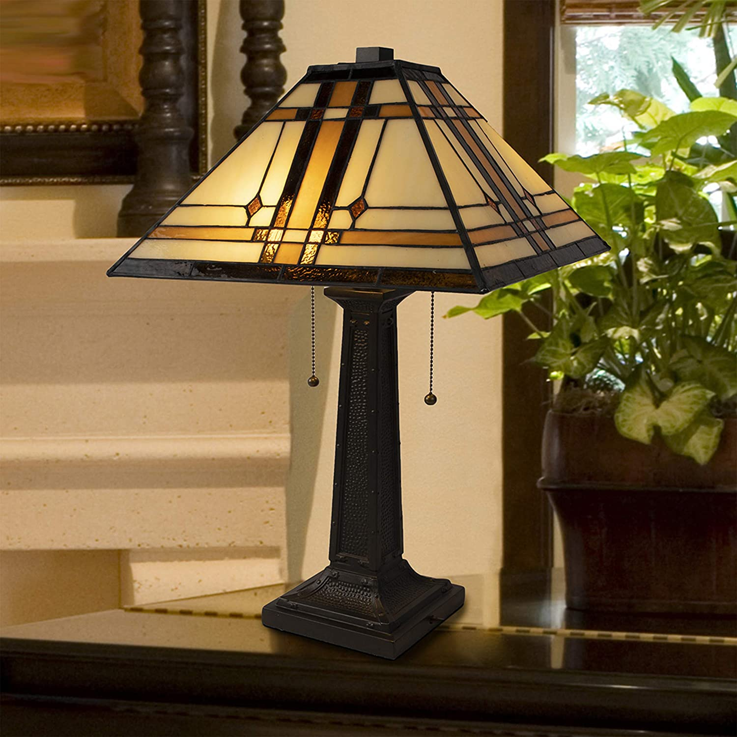 Antique Table Lamp Tiffany Style