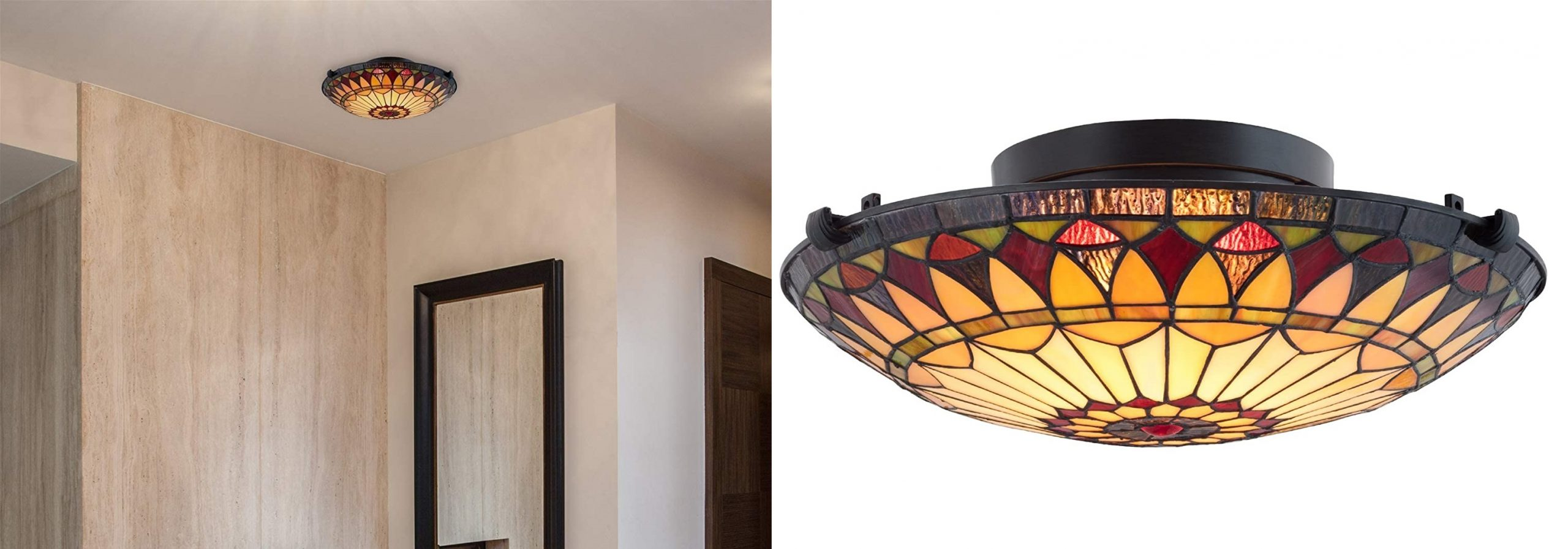 Tiffany Style Flush Mount Ceiling Lights